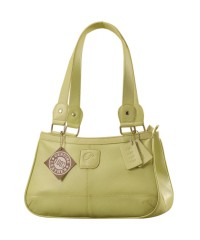 Genuine Leather Fashion Handbag eZeeBags YA818v1 - from the Maya Collection - Green.