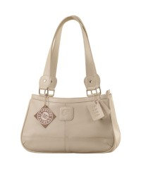 Genuine Leather Fashion Handbag eZeeBags YA818v1 - from the Maya Collection - Pearl.