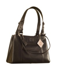 Maya Collection YA824v1 Leather Handbags dark, tall & handsome.-Black