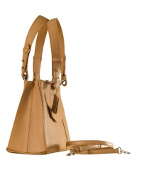 Dark, tall & handsome, Maya Collection YA824v1 by eZeeBags ladies leather handbag - stands tall in style & function - Tan.
