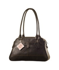 eZeeBags Maya Collection Ladies Handbag - YA825v1. Large compartment, front & rear outside pockets & lots of thoughtful features - Black.