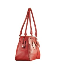 eZeeBags Maya Collection Ladies Handbag - YA825v1. Large compartment, front & rear outside pockets & lots of thoughtful features - Red.