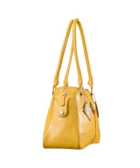 eZeeBags Maya Collection Ladies Handbag - YA825v1. Large compartment, front & rear outside pockets & lots of thoughtful features - Yellow.
