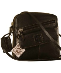 Sling it with style. Maya Teens YT840v1 genuine leather sling bags in 12 pleasant colors by eZeeBags - Black.