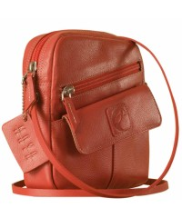 Sling it with style. Maya Teens YT840v1 genuine leather sling bags in 12 pleasant colors by eZeeBags - Pink.