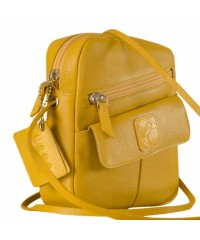 Sling it with style. Maya Teens YT840v1 genuine leather sling bags in 12 pleasant colors by eZeeBags - Yellow.
