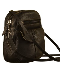 Nothing like a Maya Teen genuine leather sling bag - to enhance your style & confidence. eZeeBags YT842v1 - Black.