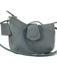 This curvy genuine leather sling bag is all about you & how you carry your style & confidence eZeeBags - YT846v1 - Blue.