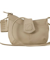 This curvy genuine leather sling bag is all about you & how you carry your style & confidence eZeeBags - YT846v1 - Pearl.