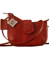 This curvy genuine leather sling bag is all about you & how you carry your style & confidence eZeeBags - YT846v1 - Red.