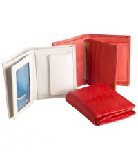 Compact pure leather wallet eZeeBags - BY015v1 - Coin pocket, 6 card slots, double notes section & more in a compact format.