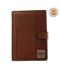 World class leather planner the brown book - MD Series - 9 x 6.5 inch size. Brown color.