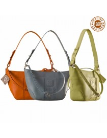 Cute & compact, just the right size for the evening outing or the weekend party. eZeeBags YA832v1 in 100% genuine leather.