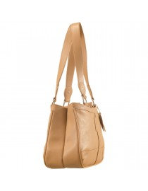 Genuine Leather Fashion Handbag eZeeBags YA818v1 - from the Maya Collection - Tan.