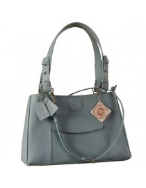 Dark, tall & handsome, Maya Collection YA824v1 by eZeeBags ladies leather handbag - stands tall in style & function - Blue.