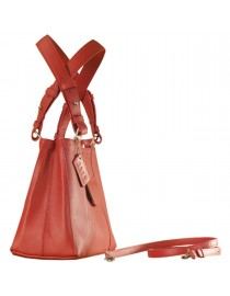 Dark, tall & handsome, Maya Collection YA824v1 by eZeeBags ladies leather handbag - stands tall in style & function - Red.