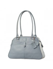 eZeeBags Maya Collection Ladies Handbag - YA825v1. Large compartment, front & rear outside pockets & lots of thoughtful features - Blue.