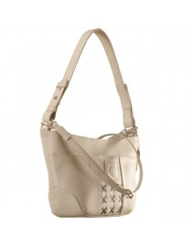 Cute & compact, just the right size for the evening outing or the weekend party. eZeeBags YA832v1 in 100% genuine leather - Pearl.