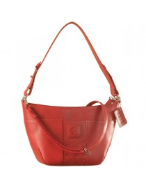 Cute & compact, just the right size for the evening outing or the weekend party. eZeeBags YA832v1 in 100% genuine leather - Red.