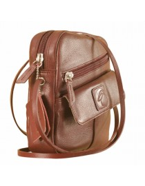 Sling it with style. Maya Teens YT840v1 genuine leather sling bags in 12 pleasant colors by eZeeBags - Burgundy.