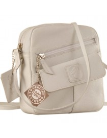 Sling it with style. Maya Teens YT840v1 genuine leather sling bags in 12 pleasant colors by eZeeBags - White.