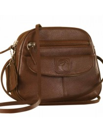 Nothing like a Maya Teen genuine leather sling bag - to enhance your style & confidence. eZeeBags YT842v1 - Brown.