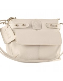 eZeeBags MayaTeens YT844v1 - Style, function & elegance rolled into this beautiful form factor. 100% genuine leather in 12 beautiful colors - White.