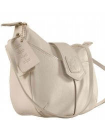 This curvy genuine leather sling bag is all about you & how you carry your style & confidence eZeeBags - YT846v1 - White.