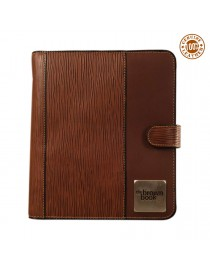 "Genuine Leather Planner / Organiser ,,the brown book"" MA-v1 Brown Desktop Format"