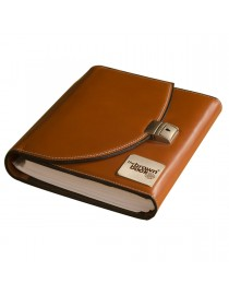 "Designer planner / organiser in 100% genuine leather - ,,the brown book"" MU Series."