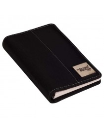 Ultra compact leather planner / organiser MX Series fits in your handbag.  Black color.